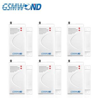 433MHz bezprzewodowy czujnik otwarcia drzwi do domu włamywacz System alarmowy WiFi PSTN System alarmowy gsm tanie i dobre opinie GSMWOND MC-A6 Door Window White