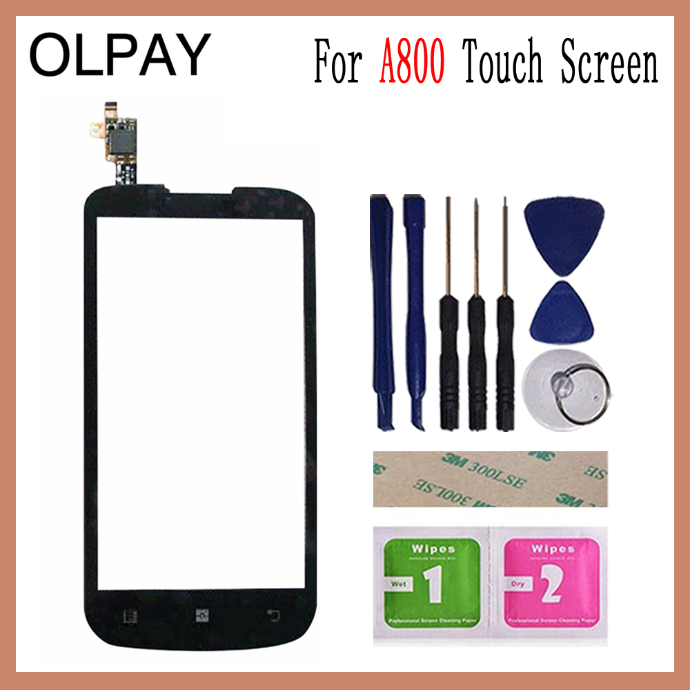 OLPAY 4.5 Mobile Touch Screen For Lenovo A800 A 800 Touch Screen Front Glass Digitizer Free Adhesive And WipesOLPAY 4.5 Mobile Touch Screen For Lenovo A800 A 800 Touch Screen Front Glass Digitizer Free Adhesive And Wipes