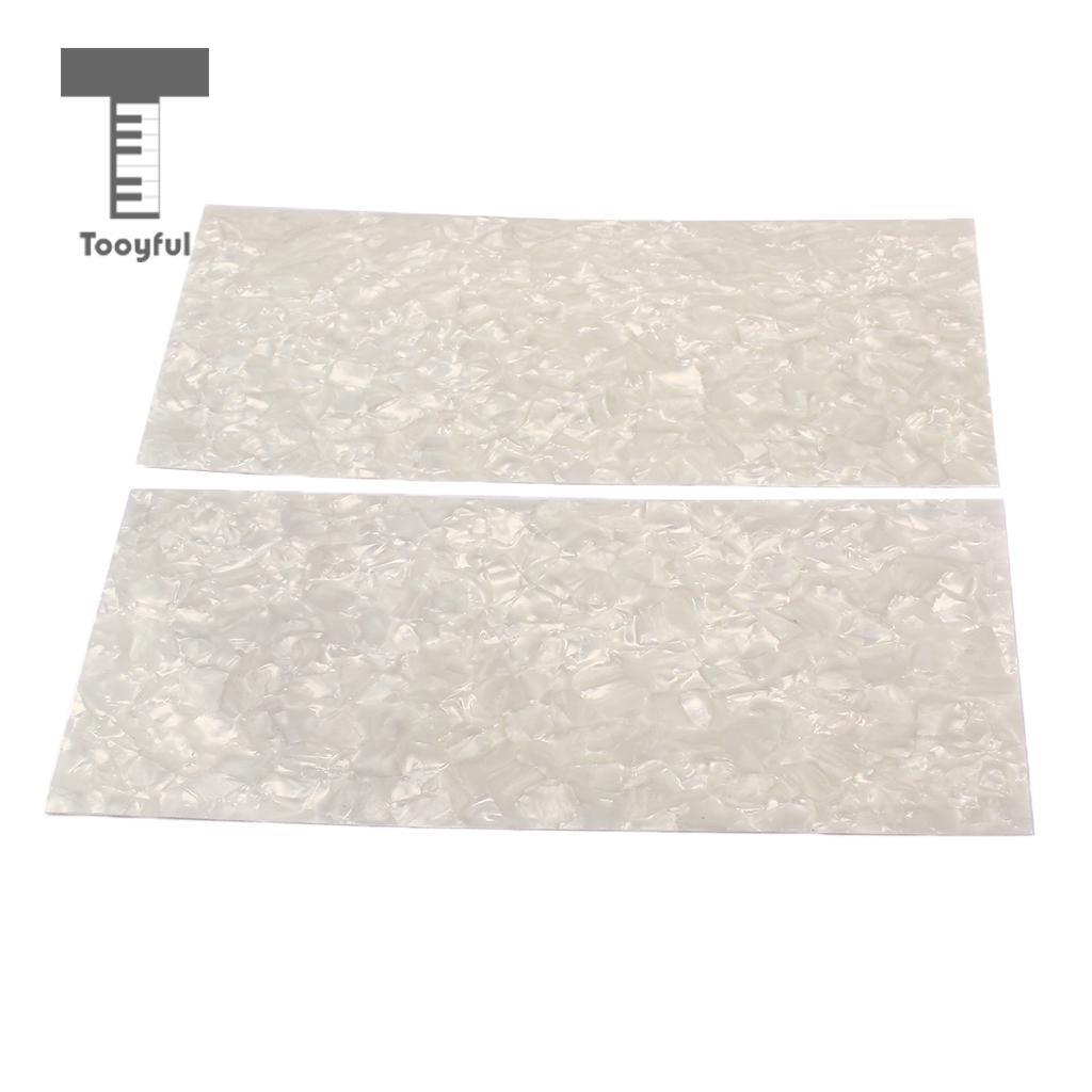 Tooyful 2 Pezzi FAI DA TE Chitarra Blank Materiale Testa Impiallacciatura  Foglio Shell White Pearl Chitarra Filetto/Basso Accessorio Decorativo