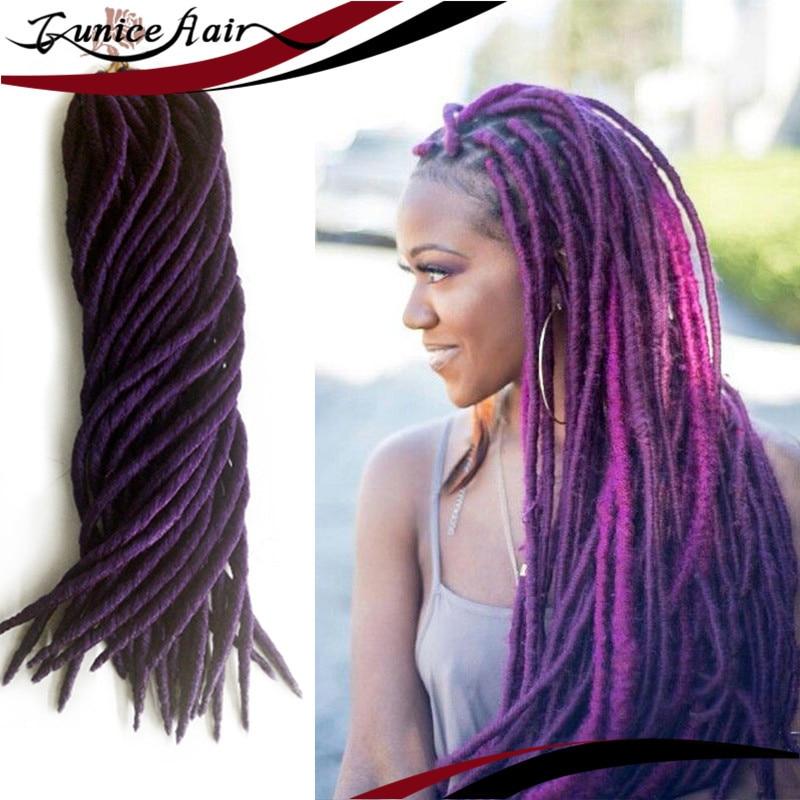 18inch Havana Mambo Faux Locs Crochet Hair Extensions 120g 24 Roots