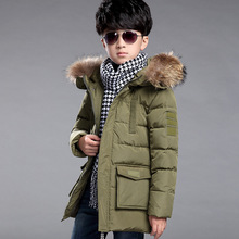 winter boys coats and jackets 2016 boys white duck down jakcet thicken warm hooded big boy outerwear coat kids clothing DQ124