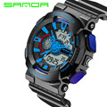 Mens relojes 2016 sanda hombres del reloj de moda g estilo de choque impermeable militar deportes relojes analógico digital relojes deportivos de lujo
