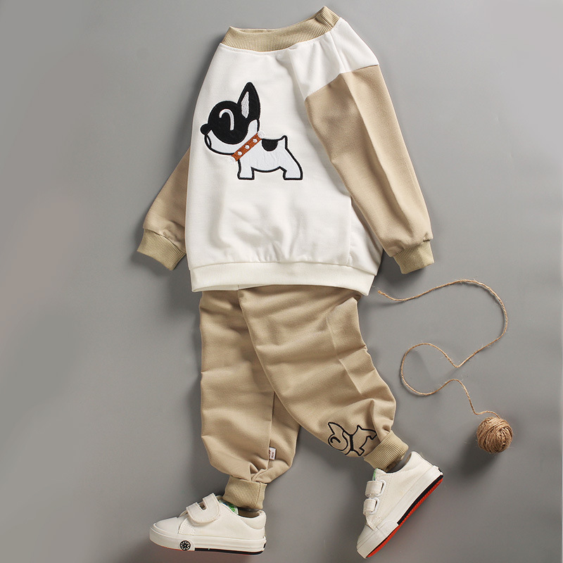 Baby Clothing Set boys 2Pcs Children Clothes 2017 spring kids Cute Cartoon Long sleeves Top+ Pants Baby Boys Clothes set