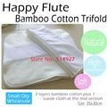 Bamboo Cotton Diaper Insert with stay-dry suede cloth,for all Happy Flute Onesize Diaper cover, Pocket diaper,35cm x30cm.