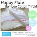 Bambu Inserir Fralda de Algodão com stay-seca pano de camurça, para todos Feliz Flauta Onesize Fralda cover, tecido do bolso, 35 cm x 30 cm.