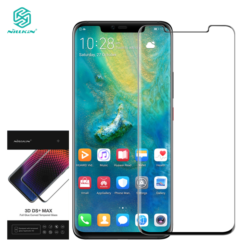 Nillkin Full Glue Glass For Huawei Mate 20 Pro Screen Protector Protective Film Tempered Glass 9D 9H Safety Free Install Tools