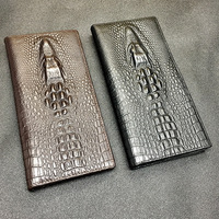 Of Europe And The United States Men And Women Pack Wallet Retro Long Crocodile Lines