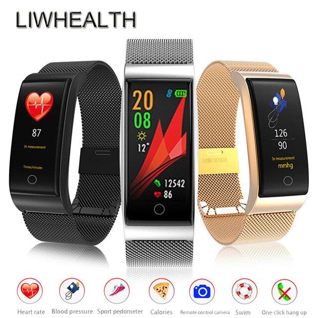 fa2ed55836b Gorila Relógio Inteligente Nadar Corpo de Metal de Aço Silic Monitor de  Freqüência Cardíaca Smartwatch Reloj Inteligente Para IOS Samsung  xiaomi  Homens  ...