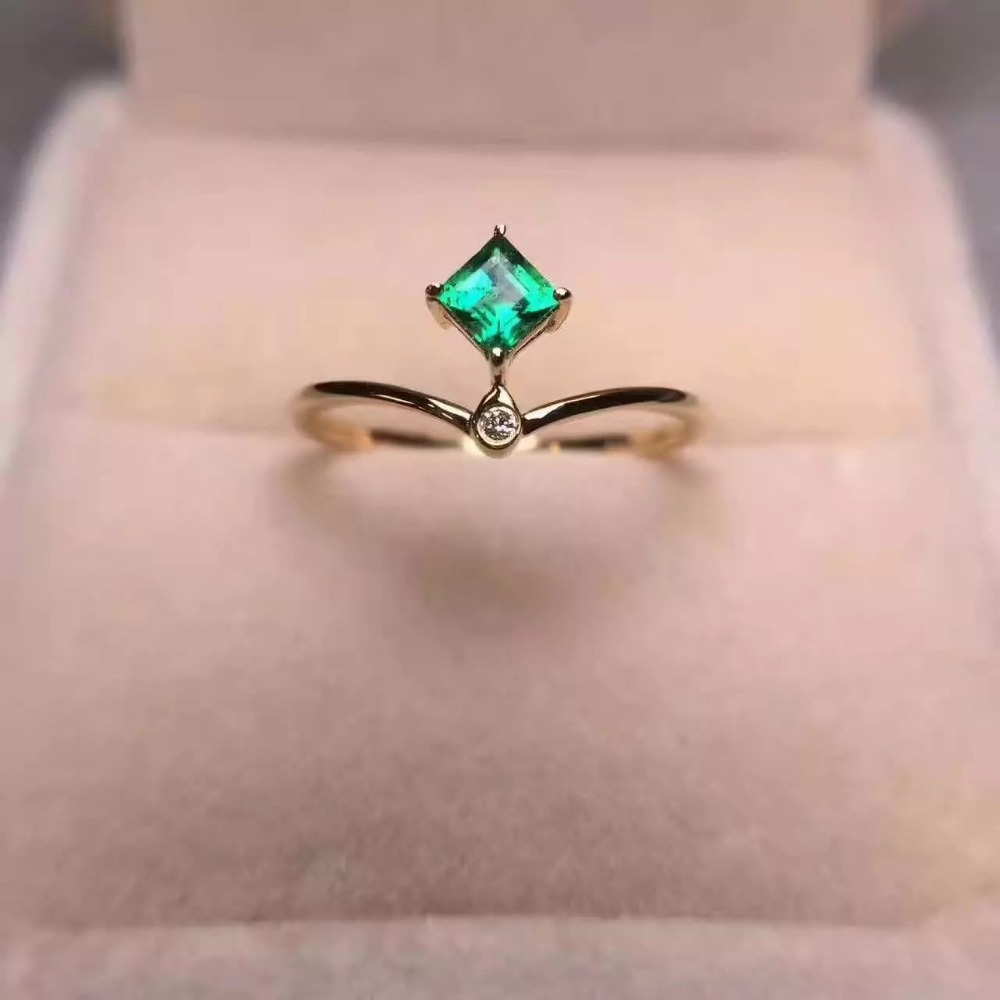 925 sterling silver Emerald Rings gift for women jewelry emerald ...