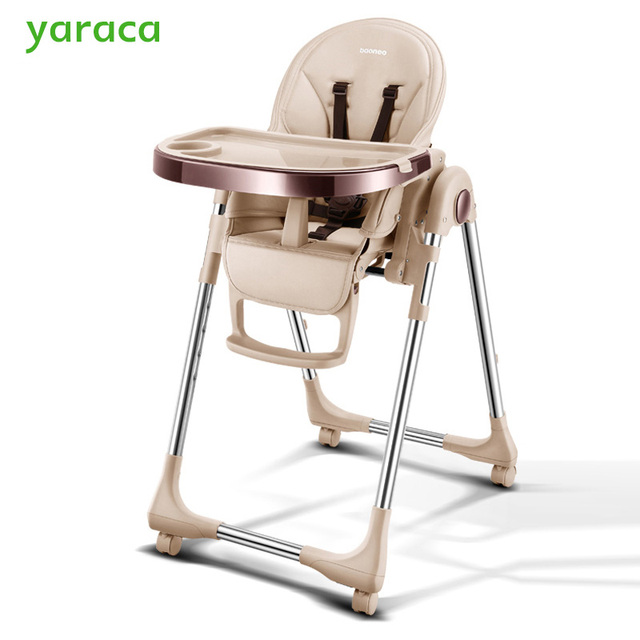 Portable High Chair For Baby Foldable Baby Highchairs For Feedding  Adjustable Booster Seat For Dinner Table
