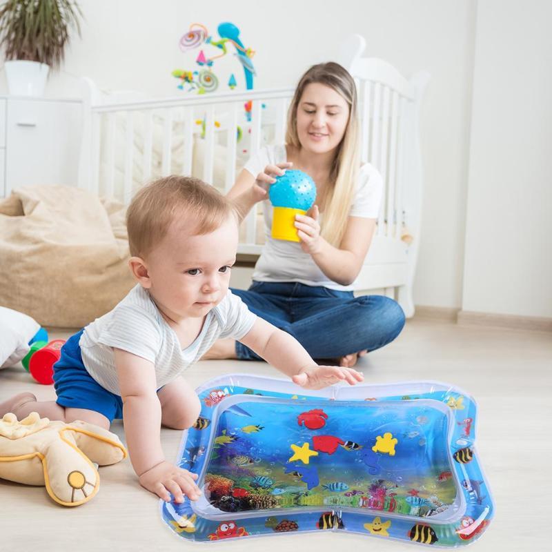 Cartoon Toddler Baby Play Mat Fun Activity Babies Toys Water Pad Funny Pat Water Baby Mat Inflatable Mata Wodna Play Accessories