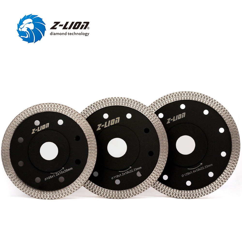 Z-LION 105/115/125MM Diamond Saw Blade For Tile Ceramic Granite Marble Wave Style Diamond Cutting Disc Aggressive Circular Saw