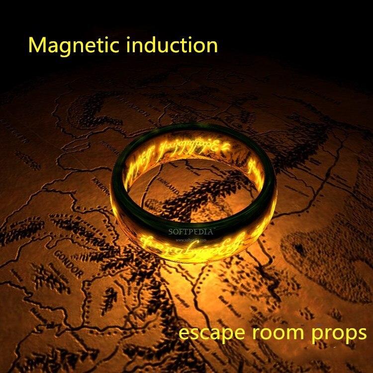 Livraison gratuite 60 kg verrouiller un anneau magique accessoires un capteur magnétique pour ouvrir la serrure lumière vraie vie évasion pièce jeu prop