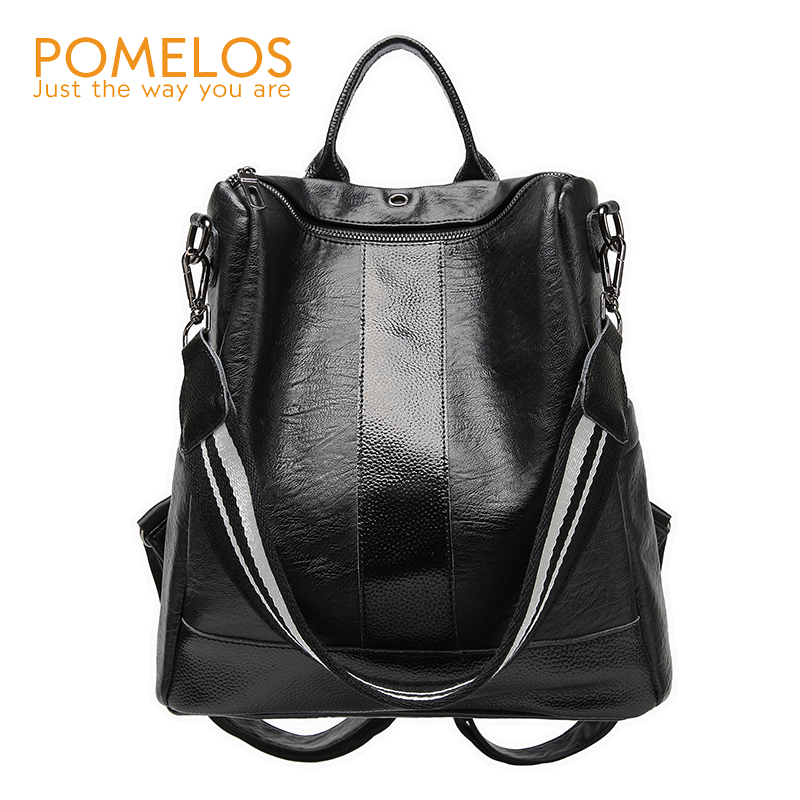 POMELOS Women Backpack Super Soft PU Leather Backpack School For Girl Anti Theft Woman Back Pack Backpack School For A Teenager pomelos backpack female designer new women leather backpack anti theft high quality soft back pack casual backpacks school bags