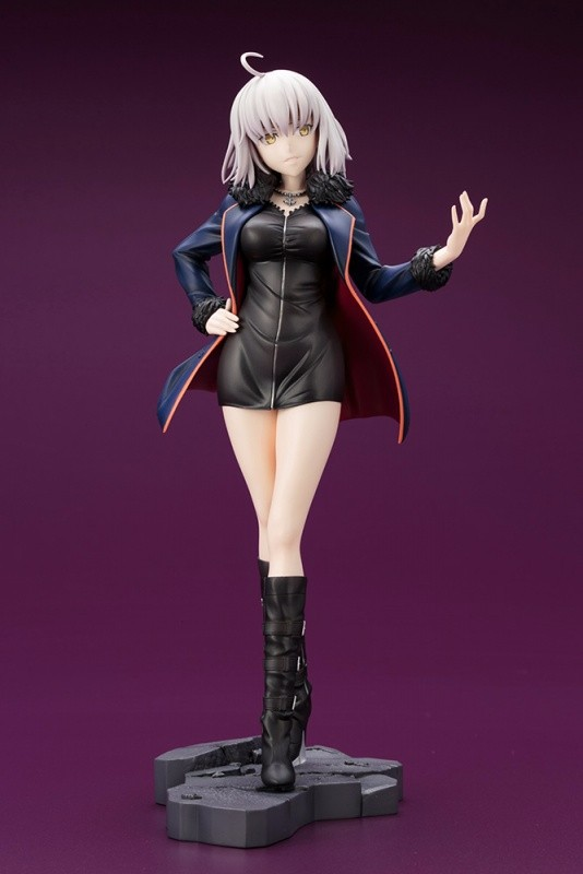 25CM Fate Grand Order Joan of Arc Black Informal Dress Ver Model PVC Stay Night Anime Action Figure Sexy Gift Decoration Doll