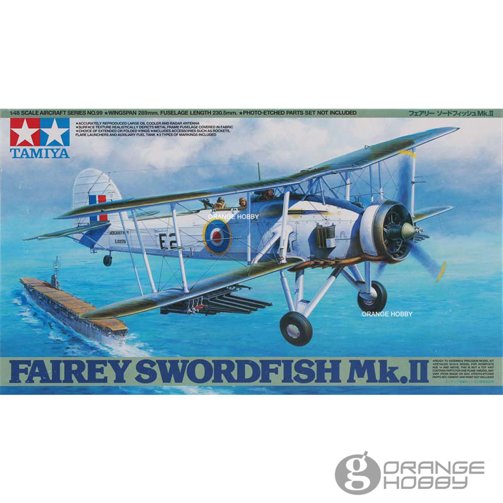 OHS Tamiya 61099 1/48 Fairey SwordFish Mk II Assembly Airforce Model Building Kits цена