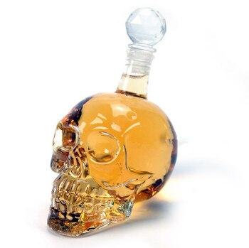 Creativa Calavera de Cristal, botella de Whisky, Vodka, vino, botella decantadora, Whisky, vidrio, cerveza, vaso para licor, agua, BARRA DE VIDRIO el hogar