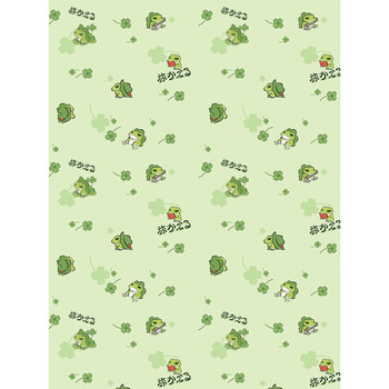 Travel Frog cartoon 1.5*2cm Green pattern flannel blanket