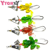 1pc new Rubber Frog Soft Fishing Lures Bass CrankBait Tackle 8cm 6.2g fishing tackle free shipping YE-182