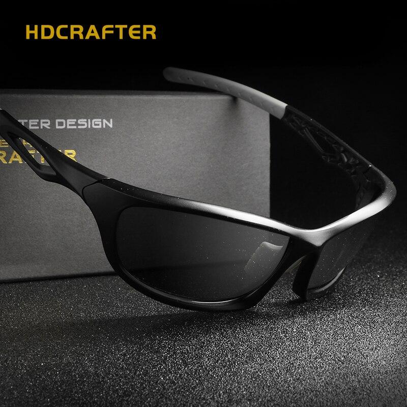 HDCRAFTER 2018 Men's Polarized Sunglasses ultralight Frame Car Driving Sun Glasses 100% UV400 Polarized Style Eyewear
