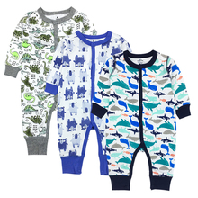 2018 New Style New child Child Ropmer Cartoon Lengthy Sleeve Child Boy Lady Garments 100% Cotton Sleepwear Child Rompers Child Clothes