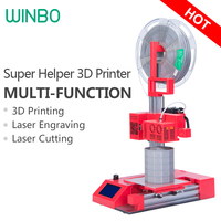 Winbo 3D Printer SH105L High Accuracy Multi Function 3in1 3D Printing 105 105 155mm Laser Engraving