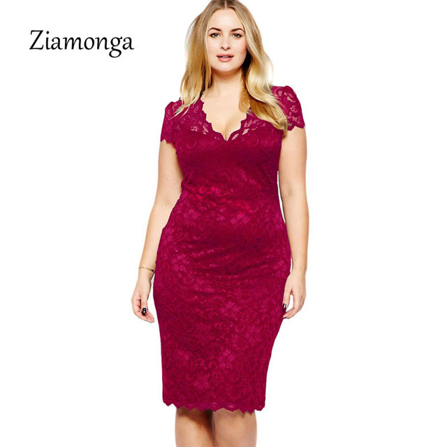 Ziamonga Black Blue Red Women Floral Lace Dress Elegant European Office  Party Dresses Women Sexy Deep V Ladies Autumn Dress
