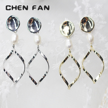 CHENFAN jewelery womens Earrings geometric fashion jewelry earrings for women 2019 stone kolczyki chwosty