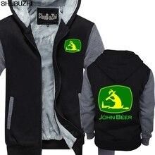 Топы в стиле хип-хоп, рубашка с капюшоном с забавным логотипом John Deer, зимняя теплая куртка, мужское пальто, Повседневная Толстовка с капюшоном shubuzhi sbz1188
