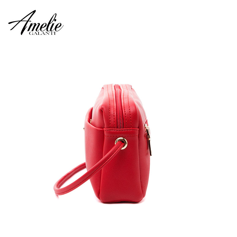 Buy AMELIE GALANTI Ladies small bag shoulder Messenger fabric soft