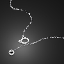 Cute style cat  choker Necklace for women 925 sterling silver chain Smalll Bell Necklace pendant in collar Bohemian jewelry gift gorgeous bell pendant choker necklace for women