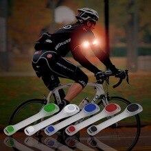 Повязку светоотражающие ночь пояса ремешок рука бег велоспорт безопасности led свет