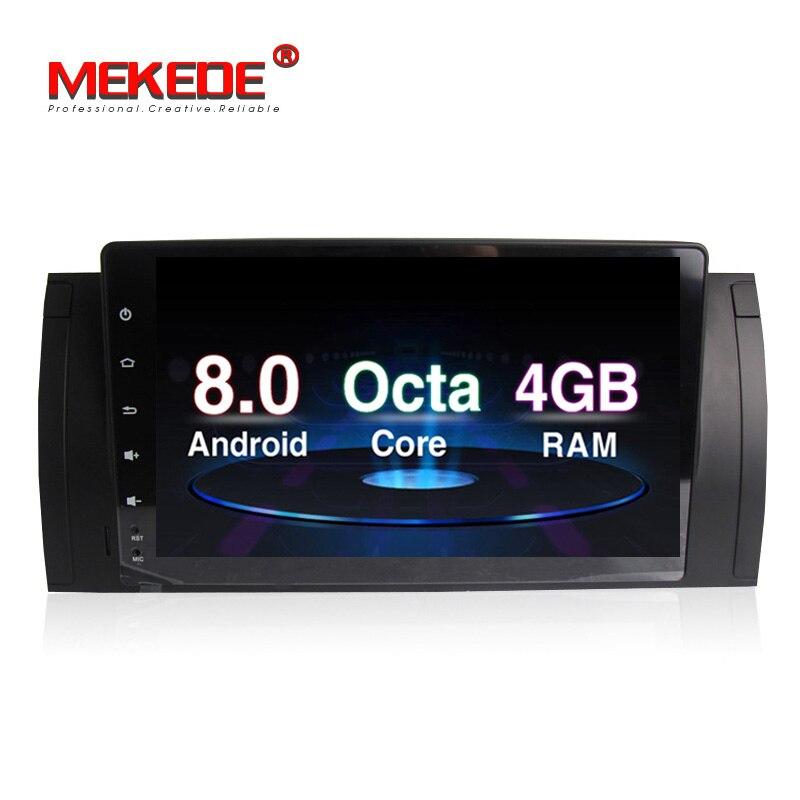 PX5 Android 8.0 4g RAM Voiture DVD lecteur radio stero Pour BMW E39 E53 X5 M5 Octa Core 32g ROM 9 pouces 1024*600 écran livraison gratuite