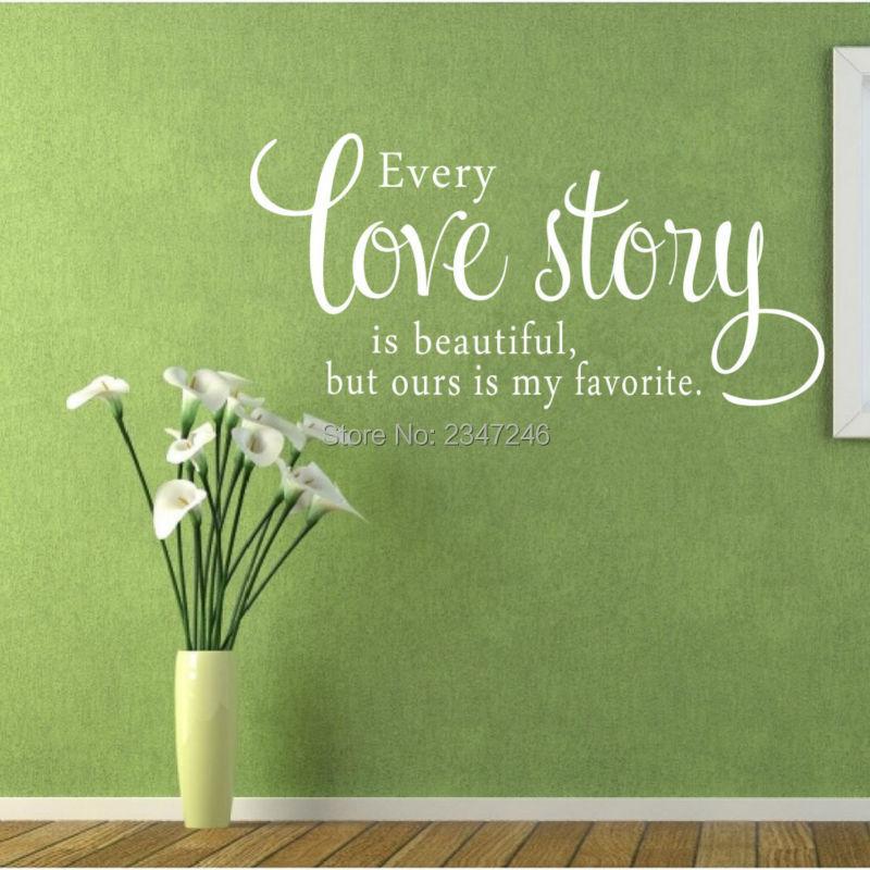 Us 434 13 Offcinta Decals Setiap Kisah Cinta Yang Indah Tetapi Kita Adalah Favorit Saya Kata Cinta Quotes Wall Stiker Dinding Decors In Wall
