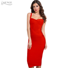 Adyce 2020 nowa letnia kobieca sukienka bandażowa czerwona zielona Backless sukienka klubowa seksowna bez rękawów kombinezon w stylu celebrytek Party Dress Vestido
