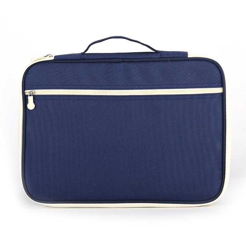 Jonvon Satone Multi Function A4 File Bag Portable Zipper Desk Accessories Office Supplies Organizador Escritorio Desk Organizer 4