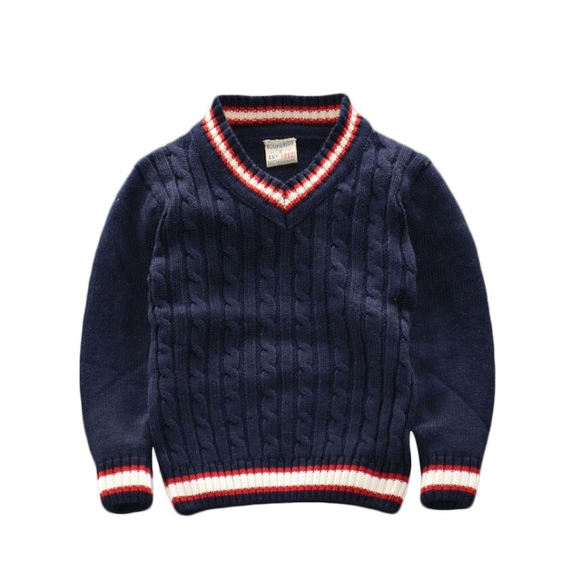 2015 New Fall and winter childrens sweaters boys girls v-neck sweater kids Kids Casual cotton pullover Coat clothing 4 Colors