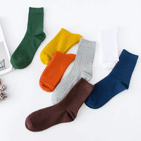 20 pieces/ Pack Men Women 100% Cotton Socks Crew Comfortable Socks