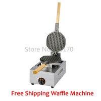 Бесплатная доставка коммерческих вафельные машины baker кухонный прибор с антипригарным вафли панорамирования нержавеющая сталь вафельница