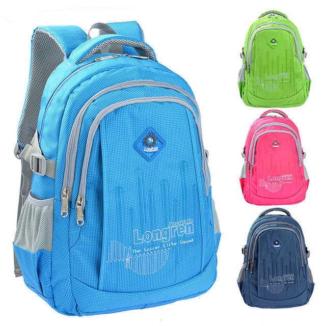 Fashion zipper nylon waterproof kids backpacks children school ...