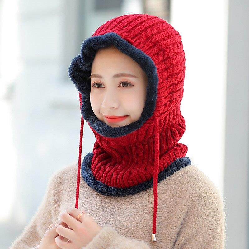 Winter Knitted Hat   Beanie   Female Scarf   Skullies     Beanies   Winter Hats For Women Men Caps Gorras Bonnet Mask Brand Hats 2019