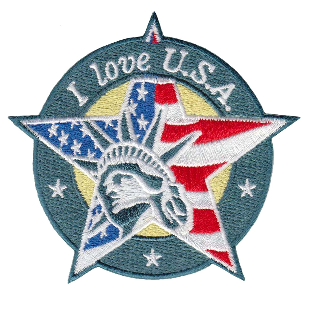 High qualiy good price Iron On Embroidered Patch Patriotic America Customized Factory Any Size Design