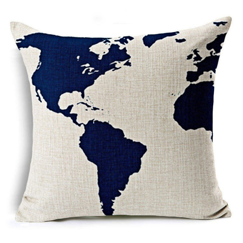 Compare Prices On Us Map Pillow Case Online ShoppingBuy Low - Us map pillow
