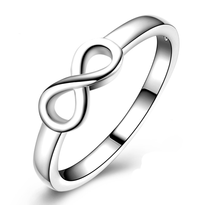 SexeMara High Quality 925 Sterling Silver Infinity Ring Wholesale Fashion Rings For Women Best Friend Gift anillos mujer jz117 broad paracord