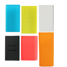 Xiaomi Powerbank Case for 5000 10000 16000 20000 mAh Mi Power Bank Silicon Case Rubber Cover for Portable External Battery Pack(China)
