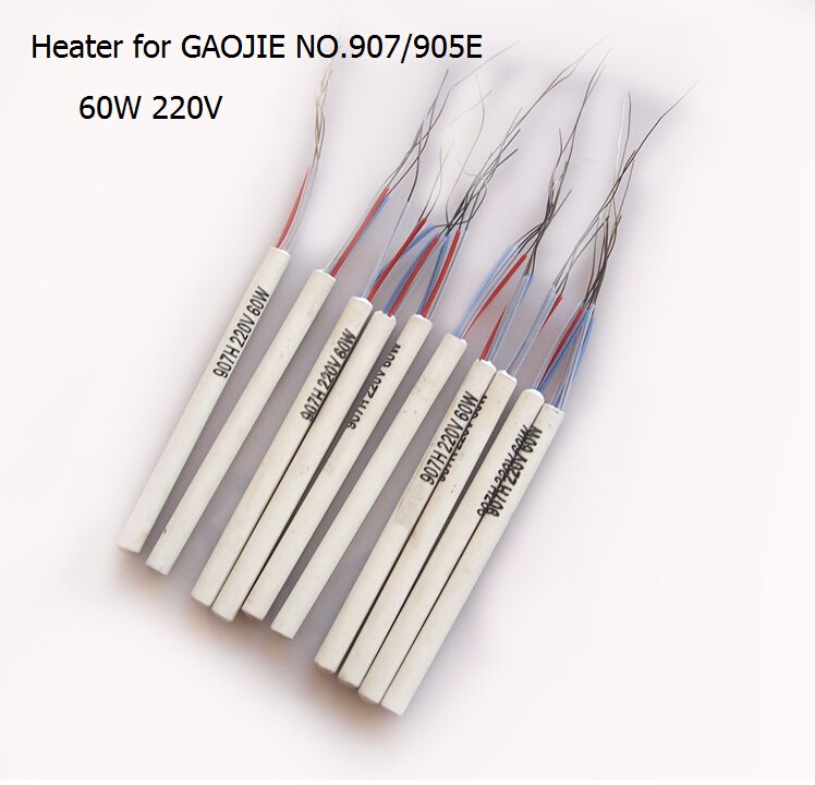 Legjobb ár 10db / tétel 907H 220v 60w állítható állandó hőmérsékletű kerámia fűtőelem hőmag-része 907 905E forrasztáshoz
