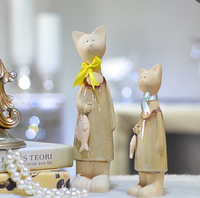 Modern Garden Style Home Decoration Mother And Cute Cat Ornaments Crafts Living Room Furnishings Lucky Creative