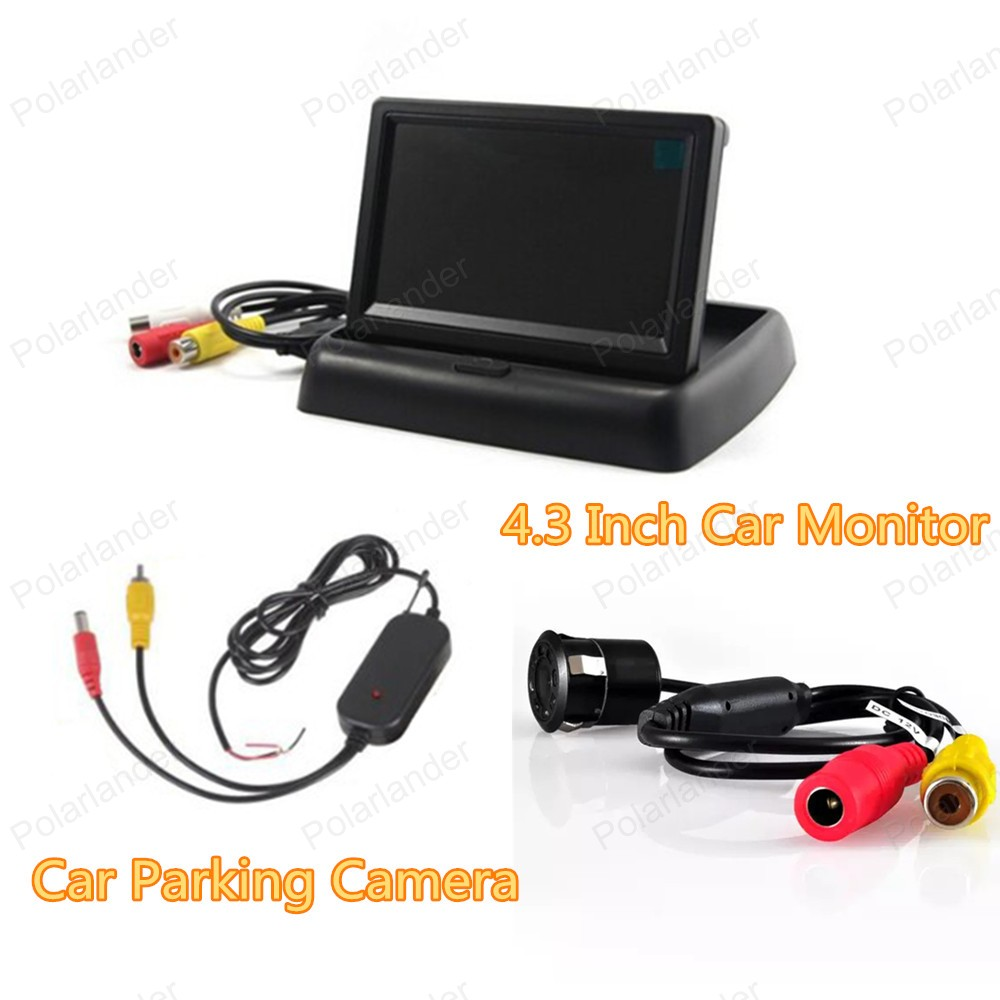 4 3 inch TFT LCD Car Monitor with 2 VA input auto switching video  reverse
