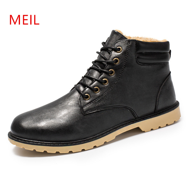 2018 Men Winter Plus velvet Boots Keep Warm Male Snow Ankle Boots Men High Top Casual Boot Shoes Chaussure Homme Hiver Zapatos