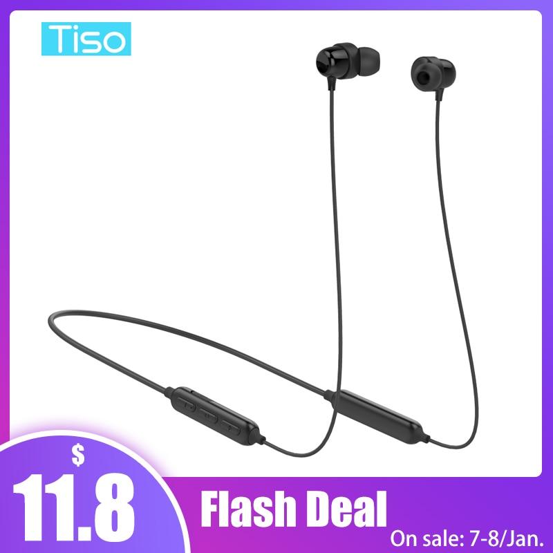 Tiso S8 Bluetooth Headphone Wi-fi Earphone Neckband Mp3 Music Recreation Video Headset Ip67 Waterproof Sport Microphone Earbuds